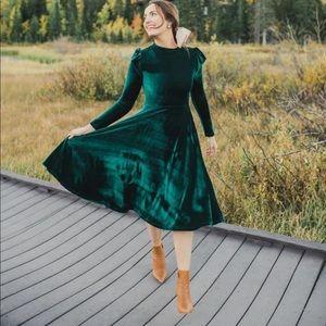Ivy city Co La La La Lady dress emerald green
